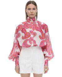 Zimmermann Multicolor Paisley Voile Shirt