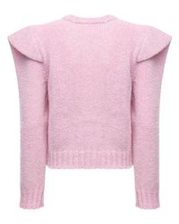 Philosophy Di Lorenzo Serafini Pink Wool Knit Sweater