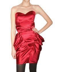 Emanuel Ungaro Red Silk Duchesse