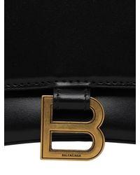 Balenciaga Hourglass グレインレザーバッグ Black