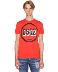 メンズ DSquared² コットンtシャツ Red