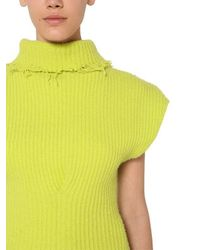 Top De Mezcla De Lana Unravel Project de color Yellow