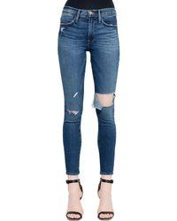 """Jeans Skinny """"le High"""" De Denim FRAME de color Blue"""