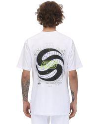 Still Good White Vantage Printed Cotton T-shirt for men