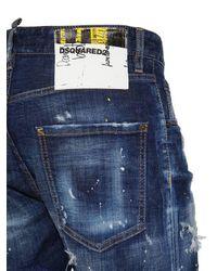 "Shorts ""commando"" De Denim De Algodón 16.5cm DSquared² de hombre de color Blue"