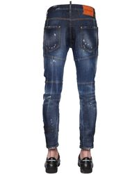 DSquared² - Blue 17cm Tidy Biker Fit Ripped Denim Jeans for Men - Lyst