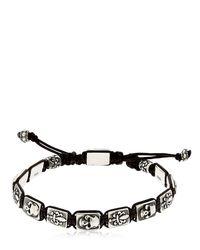 Cantini Mc Firenze - Metallic Florentine Silver Bracelet for Men - Lyst