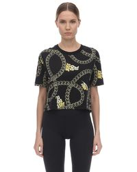 """T-Shirt Cropped """"Nsw Glam Dunk"""" In Cotone di Nike in Black"""