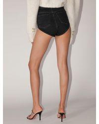 Alessandra Rich Black Shorts Aus Baumwolldenim
