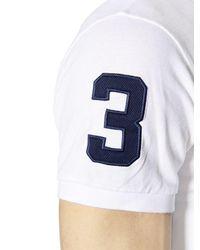 Polo Ralph Lauren White Slim Big Pony Cotton Piqué Polo Shirt for men
