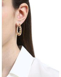 Anton Heunis - Metallic Didah Oval Hoop Earrings - Lyst