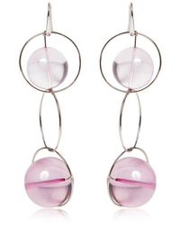 Marni - Pink Multi Spheres Hoop Earrings - Lyst