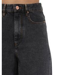 Jeans De Denim De Algodón Étoile Isabel Marant de color Black