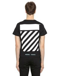 Off-White c/o Virgil Abloh | Black Slim Caravaggio Print Jersey T-shirt for Men | Lyst