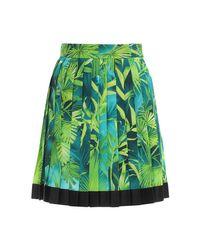 Versace プリーツツイルスカート Green