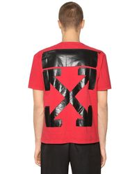 Off-White c/o Virgil Abloh Red Champion Co-lab Cotton Jersey T-shirt for men