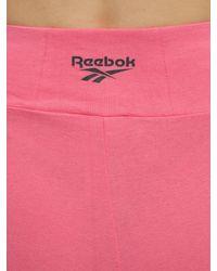 Reebok コットンバイクハーフパンツ Pink