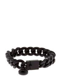 Northskull - Black Rubberized Chain Bracelet - Lyst