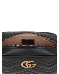 Gucci Black Mini Gg Marmont 2.0 Leather Bag