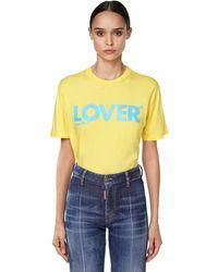 DSquared² オーバーサイズコットンジャージーtシャツ Yellow