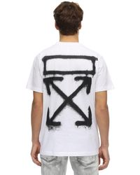 Off-White c/o Virgil Abloh T-shirt Aus Jersey Mit Druck in Multicolor für Herren