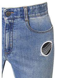 Stella McCartney - Blue Skinny Boyfriend Patches Denim Jeans - Lyst