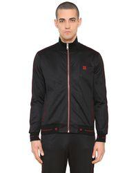 Givenchy Trainingsjacke Aus Jersey Mit Logo Und Zip in Black für Herren