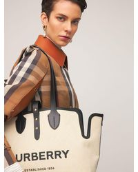 Burberry キャンバストートバッグ Black