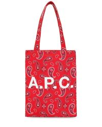 A.P.C. コットントートバッグ Red