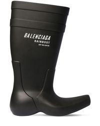 メンズ Balenciaga ラバーレインブーツ Black