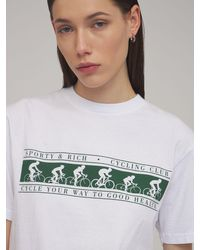 Sporty & Rich Cycling Club Tシャツ White