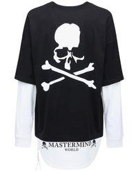メンズ MASTERMIND WORLD Boxy レイヤーコットンジャージーtシャツ Black