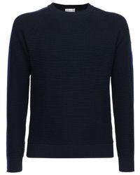 メンズ Moncler ウールニットセーター Blue