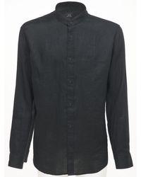 メンズ Armani Exchange リネンシャツ Black