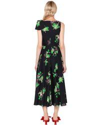 Vivetta Black Bouquet Printed Cotton Poplin Dress