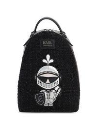 Karl Lagerfeld Karl Treasure ツイードバックパック Black