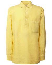 メンズ Loro Piana Andre Arizona リネンポロシャツ Yellow
