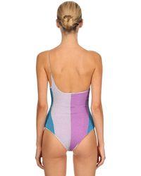 Costume Intero Monospalla In Lurex di Oseree in Purple