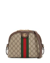 30122a553 Gucci Ophidia Gg Supreme Shoulder Bag in Brown - Lyst