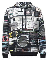 メンズ Moschino Radio コットンフーディー Multicolor