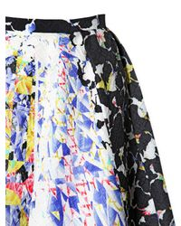 Peter Pilotto Black Emma Waffle Silk Skirt