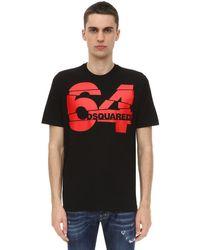 メンズ DSquared² コットンジャージーtシャツ Black