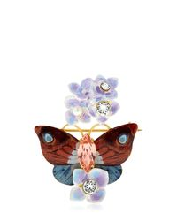 Dolce & Gabbana - Multicolor Butterfly And Hydrangea Pin - Lyst
