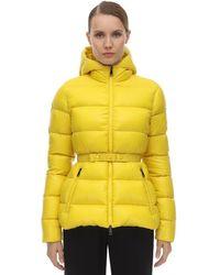 Moncler フーデッド パデッドジャケット Yellow