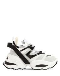 "DSquared² Multicolor 60mm Hohe Sneakers Aus Leder Und Neopren ""giant"""