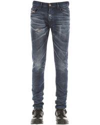 メンズ DIESEL Tepphar X スリムデニムジーンズ 17cm Blue
