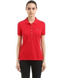 Lacoste Red Polohemd Aus Stretch-baumwollpiqué