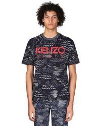 メンズ KENZO + Marina コットンtシャツ Blue