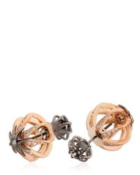 Colette - Metallic Galaxia Star Cage Reversible Earrings - Lyst