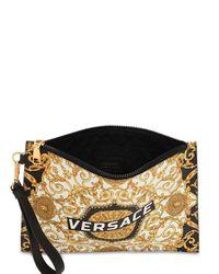 Versace プリントレザー クラッチバッグ Metallic